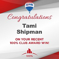 Tami Shipman earns 100% Club Award!