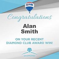 Alan Smith earns Diamond Club Award!